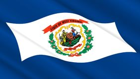 Flaga Zachodnia Virginia stan Zdjęcia Stock