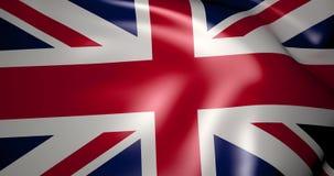 Flaga Zjednoczone Królestwo w wiatrze 4K zbiory