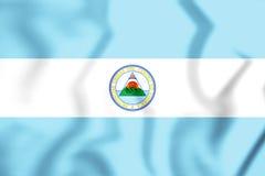 Flaga Zlane prowincje Ameryka Środkowa ilustracja 3 d royalty ilustracja