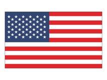 Flaga zlani stany America royalty ilustracja