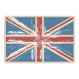 flaga zlany królestwo z nieprzezroczystą grunge teksturą royalty ilustracja