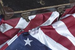 Flaga Zlany stan Ameryka overlaid z grunge teksturą zdjęcia stock