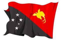 flaga zostanie opuszczona Papui nowej gwinei serii Zdjęcia Royalty Free