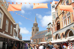 Flagday Scheveningen Fotografia Stock Libera da Diritti