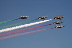 Flage de Kuwait pela força aérea imagem de stock