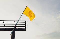 Flage de symbole de bouddhisme photographie stock libre de droits