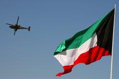 Flage del Kuwait con il apatchi Immagine Stock Libera da Diritti
