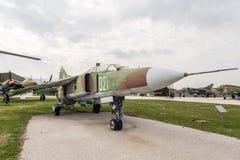 Flagellateur C Jet Fighter de MIG 23 UB Photographie stock libre de droits