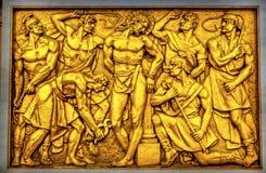 Flagellazione di Cristo che monta signora della basilica del rosario Fatima Port Immagini Stock