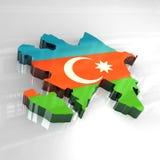 flaggaöversikt för 3d azerbaijan stock illustrationer
