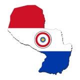 flaggaöversikt paraguay royaltyfri illustrationer
