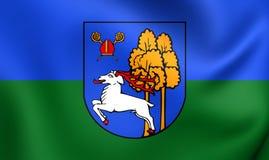 Flagga av älgstaden, Polen stock illustrationer