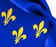 Flagga av ön de Frankrike, Frankrike vektor illustrationer