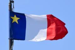 Flagga av Acadia, Nova Scotia, Kanada Royaltyfri Foto