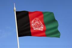 Flagga av Afghanistan - centrala Asien Arkivbilder