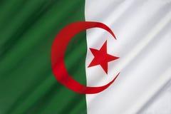 Flagga av Algeriet - Nordafrika Arkivfoto