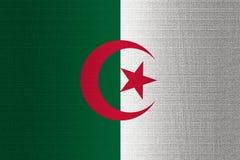Flagga av Algeriet på stenen stock illustrationer