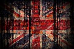Flagga av Amerika målning på en tegelstenvägg royaltyfria bilder