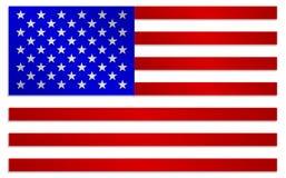 Flagga av Amerikas förenta stater i metallisk färgstil Royaltyfria Bilder