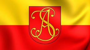 Flagga av Andrychowen, Polen royaltyfri illustrationer