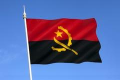 Flagga av Angola - Afrika Royaltyfri Bild
