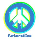 Flagga av Antarktis som ett tecken av pacifism vektor illustrationer