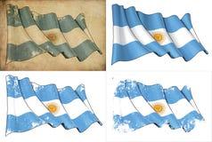 Flagga av Argentina stock illustrationer