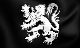Flagga av Asse, Belgien stock illustrationer