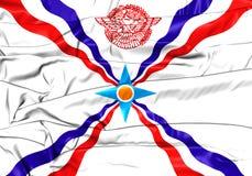 Flagga av Assyrien vektor illustrationer
