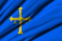 Flagga av Asturias Arkivbilder