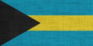 Flagga av Bahamas gammal linne Royaltyfria Foton