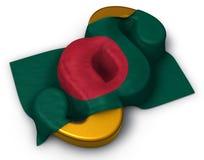 Flagga av Bangladesh och avsnittsymbolet arkivbild