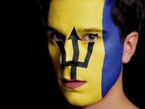 Flagga av Barbados Arkivfoton
