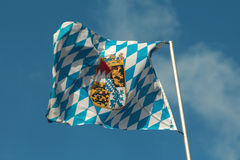 Flagga av Bayern Royaltyfri Bild