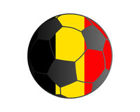 Flagga av Belgien och fotbollbollen stock illustrationer