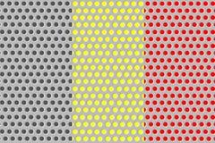 Flagga av Belgien på metall stock illustrationer