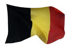 Flagga av Belgien som isoleras på vit Royaltyfria Foton