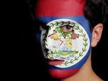 Flagga av Belize royaltyfri bild