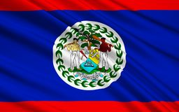 Flagga av Belize, Belmopan vektor illustrationer