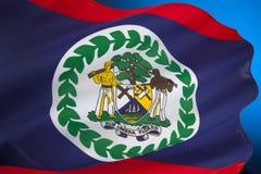 Flagga av Belize - Central America Royaltyfri Fotografi