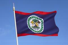 Flagga av Belize - Central America Arkivfoto