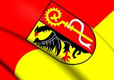 Flagga av Biberach, Tyskland royaltyfri illustrationer