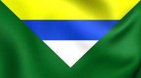 Flagga av Boaco, Nicaragua stock illustrationer