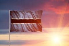 Flagga av Botswana Royaltyfria Foton