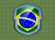Flagga av Brasilien Arkivbild