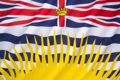 Flagga av British Columbia - Kanada Arkivbilder