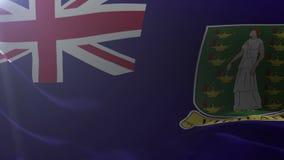 Flagga av British Virgin Islands som vinkar i vinden, nationellt symbol av frihet stock illustrationer