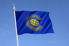 Flagga av brittiska samväldet Arkivbild
