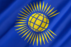 Flagga av brittiska samväldet Fotografering för Bildbyråer