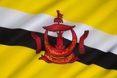 Flagga av Brunei - Borneo Royaltyfria Foton